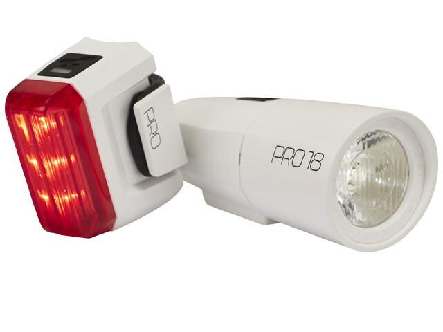 Cube Pro 18 Cykellygter sæt hvid   Rear lights